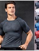 Χαμηλού Κόστους Γυναικείες μακριές και μίνι ολόσωμες φόρμες-Ανδρικά Στρογγυλή Ψηλή Λαιμόκοψη Μπλούζα συμπίεσης Strat de bază Δέρμα Φιδιού Λευκό Σκούρο μωβ Θαλασσί Ρουμπίνι Σκληρό Μαύρο Ελαστίνη Τρέξιμο Fitness Γυμναστήριο προπόνηση / Γρήγορο Στέγνωμα