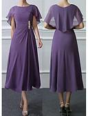 זול חצאיות לנשים-מידי תחרה, אחיד - שמלה נדן משוחרר בסיסי בגדי ריקוד נשים