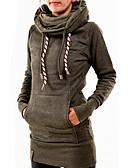 olcso Női kapucnis felsők és pulóverek-Női Alkalmi Kapucnis felsőrész Mértani