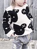 povoljno Džemperi i kardigani za bebe-Dijete Djevojčice Osnovni Print Dugih rukava Džemper i kardigan Crn