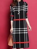 baratos Capinhas para iPhone-Mulheres Reto Vestido Listrado Altura dos Joelhos