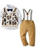 povoljno Kompletići za dječake-Djeca Dječaci Osnovni Leopard Dugih rukava Komplet odjeće Žutomrk