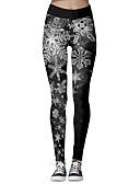 olcso Leggingek-Női Sportos Karácsony Vékony Leggingek Nadrág - 3D nyomtatás Nyomtatott Fekete S M L
