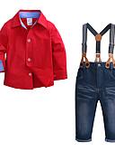 povoljno Kompletići za dječake-Djeca Dijete koje je tek prohodalo Dječaci Aktivan Ulični šik Zabava / večer Dnevno Jednobojni Dugih rukava Regularna Normalne dužine Komplet odjeće Red