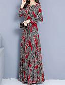 olcso Női ruhák-Női A-vonalú Ruha Mértani Maxi