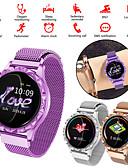 baratos Smart watch-Relógio inteligente Digital Estilo Moderno Esportivo 30 m Impermeável Monitor de Batimento Cardíaco Bluetooth Digital Casual Ao ar Livre - Dourado Roxo Prateado
