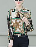 billige Skjorter til damer-V-hals Skjorte Dame - Geometrisk Grunnleggende Rosa