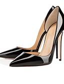 ราคาถูก ถุงเท้าและชุดชั้นใน-สำหรับผู้หญิง รองเท้าส้นสูง ส้น Stiletto Pointed Toe หนังสิทธิบัตร ธุรกิจ ฤดูใบไม้ผลิ & ฤดูใบไม้ร่วง สีดำ
