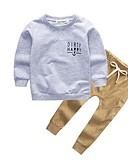 povoljno Kompletići za dječake-Dijete koje je tek prohodalo Dječaci Aktivan Jednobojni Dugih rukava Komplet odjeće Sive boje