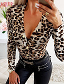 cheap Women's Blouses-Women's Daily Blouse - Leopard White