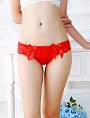 olcso Női alsóneműk-női g-húrok&nadrág nadrág / alsónadrág - csipke közepén derékig fekete-fehér lila, egy méretű