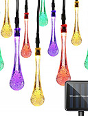 Χαμηλού Κόστους Επαγγελματικά Φορέματα-1pcs 50l 7m ηλιακή ελαφριά χορδή υπαίθρια αδιάβροχο νερό πτώση νεράιδα φώτα διακόσμηση για χριστουγεννιάτικο πάρτι πάρτι φωτισμού