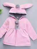 povoljno Majice s kapuljačama i trenirke za bebe-Dijete Djevojčice Osnovni Jednobojni Dugih rukava Pamuk Jakna i kaput Blushing Pink / Dijete koje je tek prohodalo
