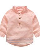 olcso Lány ruhák-Kisgyermek Lány Utcai sikk Egyszínű Hosszú ujj Ing Arcpír rózsaszín