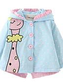 olcso Bébi divat-Baba Lány Alap Pöttyös Ballon kabát Világoskék