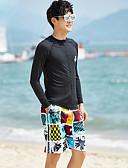 ราคาถูก กางเกงผู้ชาย-สำหรับผู้ชาย ดำน้ำที่เหมาะกับสภาพผิว สแปนเด็กซ์ ชุดดำน้ำ แห้งเร็ว แขนยาว 2 Pieces - การว่ายน้ำ Snorkeling กีฬาทางน้ำ ลายต่อ ฤดูใบไม้ร่วง ฤดูใบไม้ผลิ ฤดูร้อน / ผสมยางยืดไมโคร