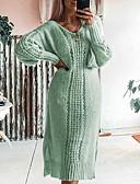 billige Todelt dress til damer-Dame Grunnleggende A-linje Kjole - Ensfarget Midi