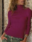 olcso Maxi ruhák-Női Egyszínű Hosszú ujj Extra méret Pulóver Pulóver jumper, Körgallér Tavasz / Ősz Fekete / Bor / Lóhere S / M / L