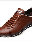 baratos Camisas Masculinas-Homens Sapatos Confortáveis Microfibra Outono & inverno Tênis Preto / Marron / Amarelo