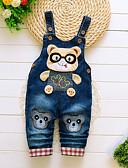 billige Baby Gutter topper-Baby Gutt Grunnleggende Trykt mønster Kjeledress og jumpsuit Blå