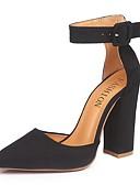 olcso Női ruhák-Női Magassarkúak Vaskosabb sarok Erősített lábujj Fordított bőr Tavaszi nyár Fekete / Piros