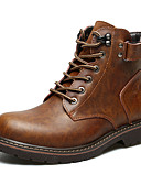 cheap Men's Tees & Tank Tops-Men's Leather Shoes Leather Fall & Winter Classic Boots Walking Shoes Warm Booties / Ankle Boots Black / Brown