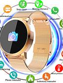 billige Digitale klokker-imosi q8 smartwatch rustfritt stål bt fitness tracker støtte varsle / pulsmåler sport bluetooth smartwatch kompatible ios / android telefoner