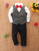 povoljno Kompletići za dječake-Djeca Dječaci Osnovni Kauzalni Print Dugih rukava Regularna Normalne dužine Komplet odjeće Sive boje