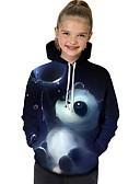 povoljno Majice s kapuljačama i trenirke za djevojčice-Djeca Dijete koje je tek prohodalo Djevojčice Aktivan Osnovni Panda Geometrijski oblici Print Color block Print Dugih rukava Trenirka s kapuljačom Plava