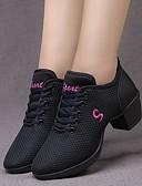 baratos Camisas Femininas-Mulheres Sapatos de Dança Com Transparência Tênis de Dança Salto Salto Grosso Preto / Branco / Vermelho
