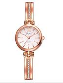 baratos Relógios-Mulheres Relógios de aço Quartzo Relógio Casual Analógico Casual