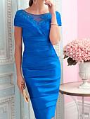 olcso Örömanya ruhák-Szűk szabású Ékszer Térdig érő Szatén Örömanya ruha val vel Rátétek által LAN TING Express