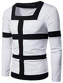 ราคาถูก เสื้อโปโลสำหรับผู้ชาย-สำหรับผู้ชาย เสื้อเชิร์ต ลายแถบ สีดำ
