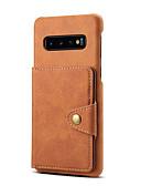 povoljno Maske za mobitele-Θήκη Za Samsung Galaxy S9 / S9 Plus / Note 9 Utor za kartice Stražnja maska Jednobojni PU koža