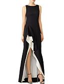 povoljno Večernje haljine-A-kroj Lađa izrez Asimetričan kroj Poliester Formalna večer Haljina s Drapirano padajuće po LAN TING Express