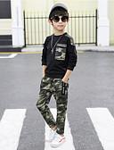 povoljno Kompletići za dječake-Djeca Dječaci Aktivan Kolaž Dugih rukava Regularna Normalne dužine Komplet odjeće Crn