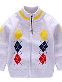 tanie Swetry i kardigany dla chłopców-Dzieci Dla chłopców Podstawowy Nadruk Długi rękaw Sweter i kardigan Czerwony