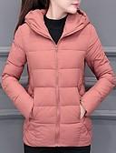 olcso Női hosszú kabátok és parkák-Női Egyszínű Kosaras, Poliészter / POLY Fekete / Arcpír rózsaszín / Rubin M / L / XL