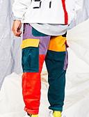 olcso Férfi nadrágok és rövidnadrágok-Férfi Alap Pamutszövet nadrág Nadrág - Többszínű Szivárvány US36 / UK36 / EU44 US38 / UK38 / EU46 US40 / UK40 / EU48