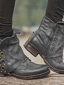 ราคาถูก ชุดลำลองชาย-สำหรับผู้หญิง บูท รองเท้าสบาย ๆ ส้นแบน ปลายกลม PU บู้ทสูงระดับกลาง ฤดูหนาว สีดำ / น้ำตาลเข้ม / สีเทา