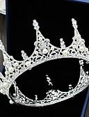 billiga Europeiska kostymer-Bergkristall / Legering Tiaras med Strass / Pärla 1 st. Bröllop Hårbonad