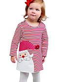 ราคาถูก เดรสเด็กผู้หญิง-Toddler เด็กผู้หญิง คริสมาสต์ กระโปรงชุด สีม่วง