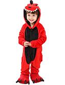 billiga Samsung-tilbehør-Kigurumi-pyjamas Dinosaurie Onesie-pyjamas Flanell Röd Cosplay För Pojkar och flickor Pyjamas med djur Tecknad serie Festival / högtid Kostymer