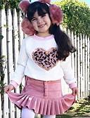 olcso Lány divat-Gyerekek Lány Alap Hétköznapi viselet Mértani Hosszú ujj Szokványos Szokványos Ruházat szett Fehér