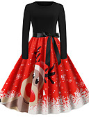cheap Girls' Dresses-Audrey Hepburn Dress Adults' Women's Retro Vintage Christmas Christmas Festival / Holiday Polyester Black Women's Carnival Costumes
