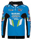billige Bluser-suzuki motorsykkel jersey klærjakke for unisex polyster vårhøst / vintervarmer / pustende / raskt tørr