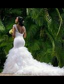 olcso Menyasszonyi ruhák-Sellő fazon Szív-alakú Kápolna uszály Tüll Made-to-measure esküvői ruhák val vel Gyöngydíszítés által LAN TING Express