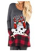 billige Bluser-T-skjorte Dame - Tegneserie julenissen Svart