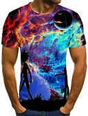 Χαμηλού Κόστους Ανδρικά μπλουζάκια και φανελάκια-Ανδρικά T-shirt 3D / Ζώο Ουράνιο Τόξο