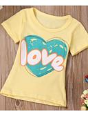 billige Baby Gutter topper-Baby Gutt Grunnleggende Fantastiske dyr Trykt mønster Lapper Kortermet T-skjorte Gul